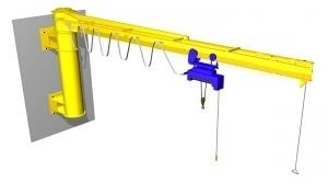 Кран консольный настенный с механическим поворотом консоли